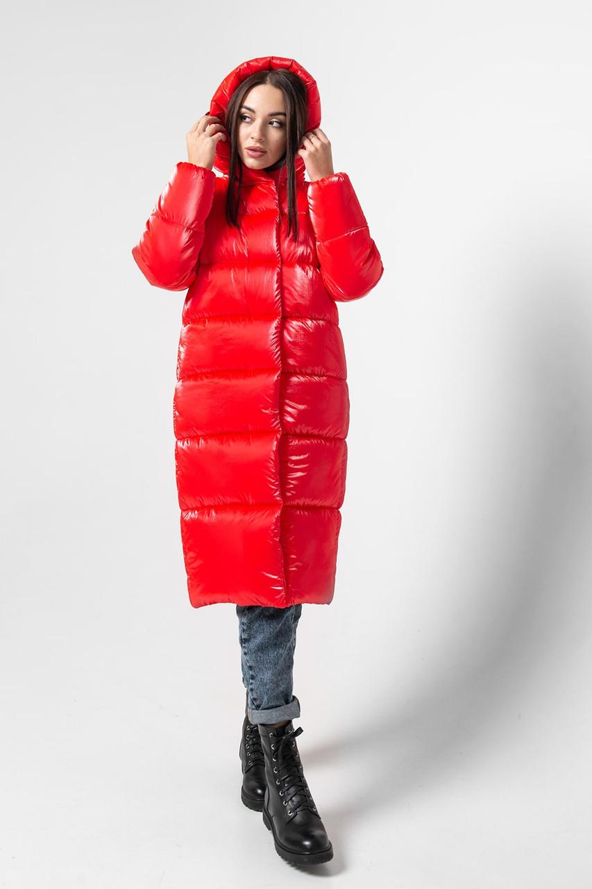 Зимняя женская куртка KTL-333 из новой коллекции KATTALEYA кораллового цвета