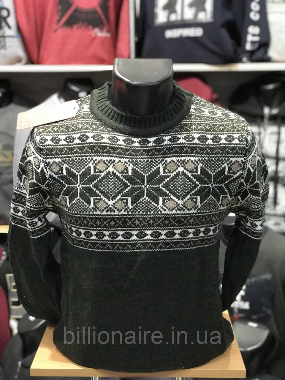 Стильний теплий новорічний чоловічий светр