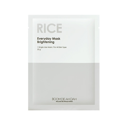 Вирівнює тон маска для обличчя BOOM DE AH DAH Everyday Mask Rice