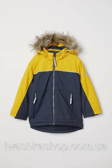 Водонепроницаемая и ветрозащитная куртка зима на мальчика 3 - 4 лет, р. 104, H&M