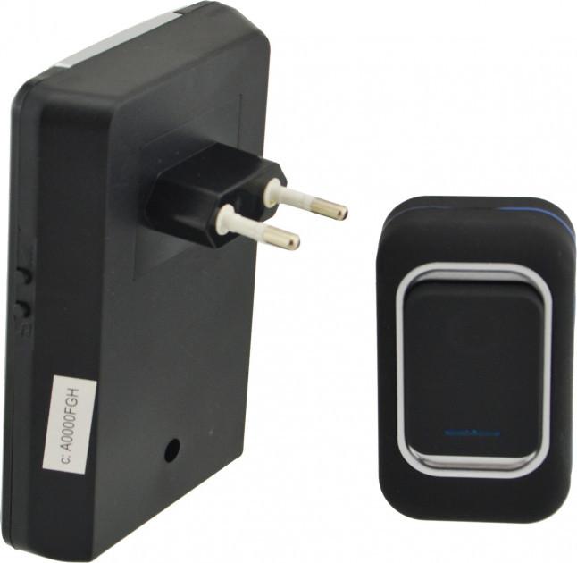 Дзвінок дверний бездротовий Luckarm А3905 220В, чорний