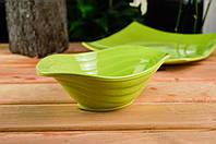 Керамический салатник салатного цвета 700 мл