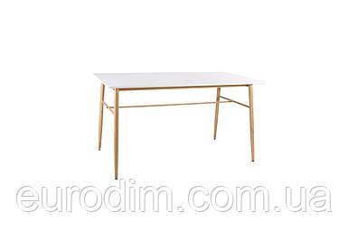 Стол BOLTON DT-9017 прямоугольный  белый 140 см