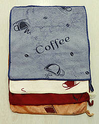 Полотенце кухонное  25 х 25 см кофе микрофибра