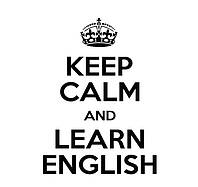Мотивирующая интерьерная наклейка в комнату ReD Keep calm and learn English, 70х96 см Черная