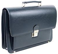 Деловой портфель из эко кожи AMO Польша SST09 синий, фото 1