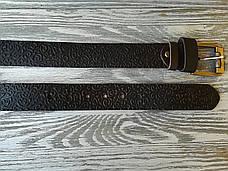 Шкіряний ремінь коричневі східні візерунки, фото 2
