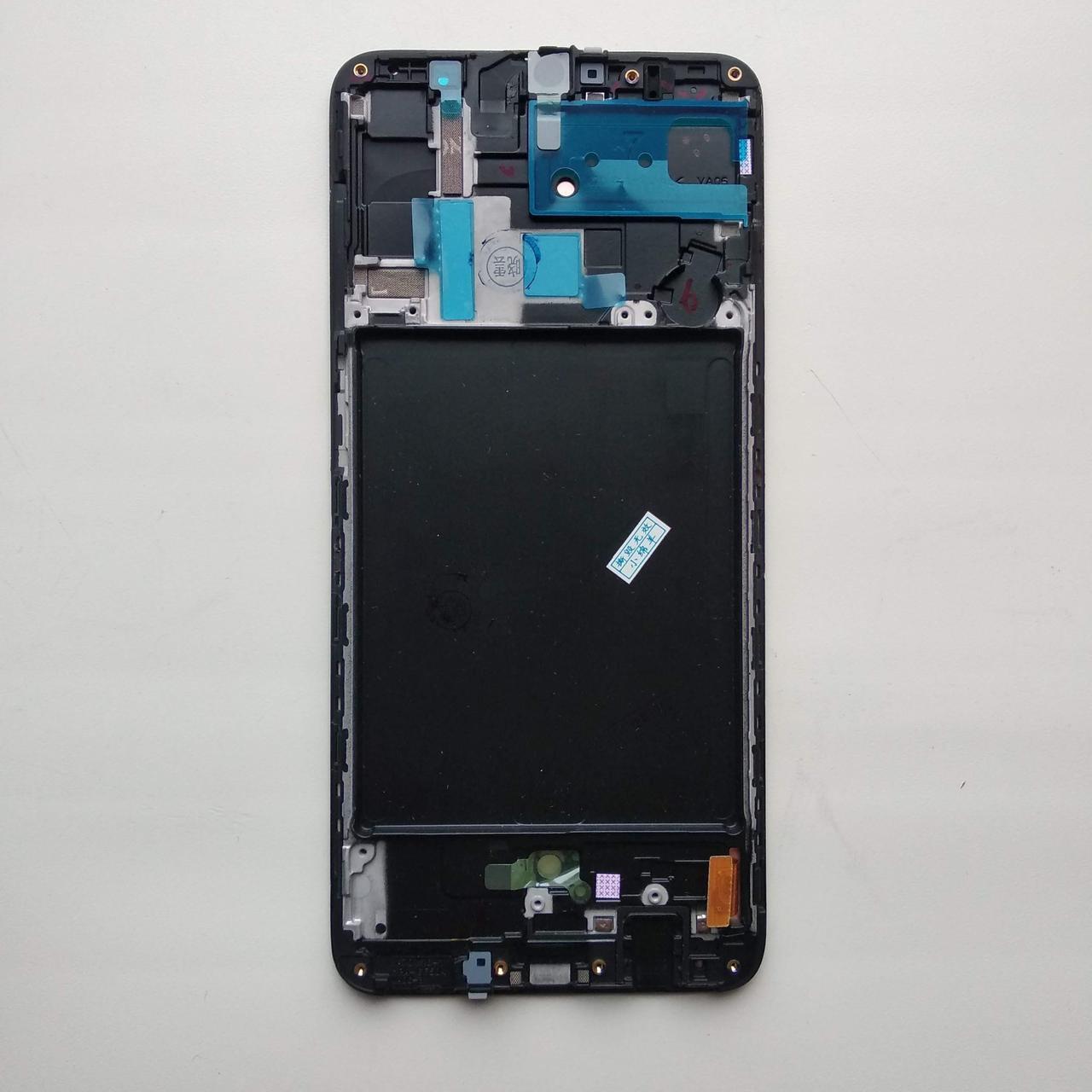 Исплей (LCD) Samsung GH82-19787A A705 Galaxy A70 (2019) с сенсором чёрный сервисный
