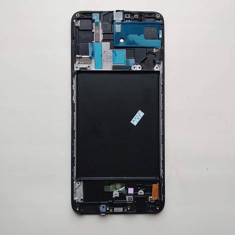 Исплей (LCD) Samsung GH82-19787A A705 Galaxy A70 (2019) с сенсором чёрный сервисный, фото 2