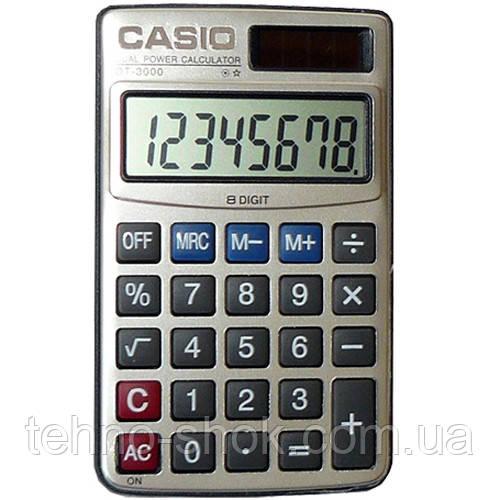 Калькулятор карманный Casio 3000 (двойное питание)