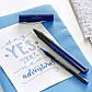Ручка капиллярная Faber-Castell GRIP 2011 FineWriter, корпус синий металлик, стержень синий, 140402, фото 5
