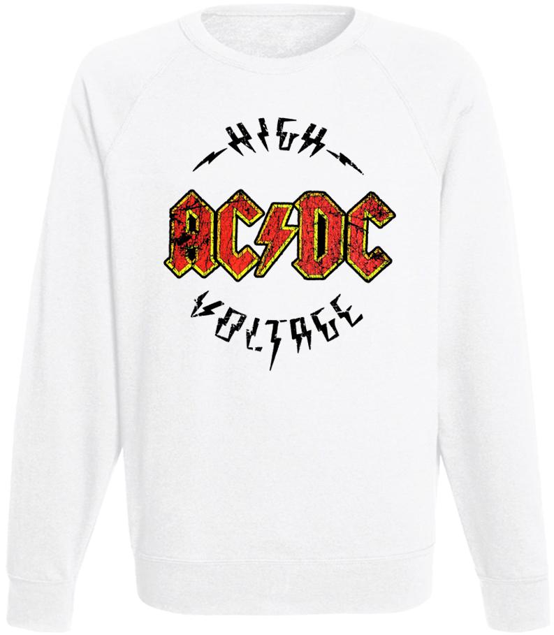 Свитшот AC/DC - High Voltage (белый)