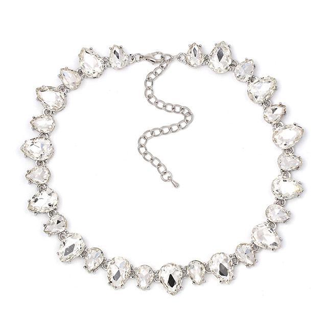 Вечернее ожерелье - Волшебство (Серебристое с белым)