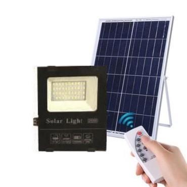 Светодиодный прожектор 25W на солнечной батарее с пультом. Фонарь солнечный 6500К