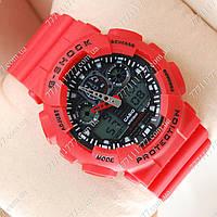 Часы мужские наручные Casio G-Shock GA-100 Red/Black