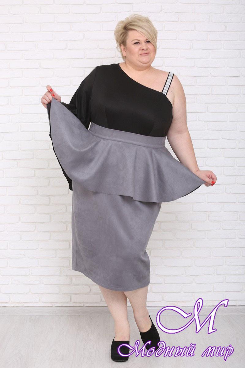 Длинная женская юбка большого размера (р. 42-90) арт. Филиция