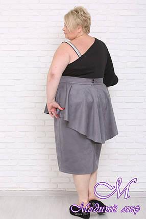 Длинная женская юбка большого размера (р. 42-90) арт. Филиция, фото 2