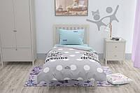 Подростковый комплект постельного белья HalfTones, 160*220см, бязь, хлопок , Единорог голубой с серым