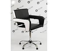 Кресло парикмахерское Flamingo на пневматике Крестовина Хром, КЗ Boom-24+01 (Velmi TM)