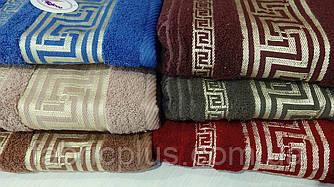 Полотенце банное  70х140 см версаче цветное