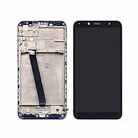 Дисплей для XIAOMI Redmi 7A с чёрным тачскрином и корпусной рамкой