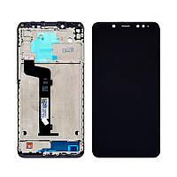 Дисплей для XIAOMI Redmi Note 5/Note 5 Pro с чёрным тачскрином и корпусной рамкой