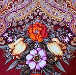 Літнє диво 1885-5, павлопосадский вовняну хустку з шовковою бахромою, фото 3