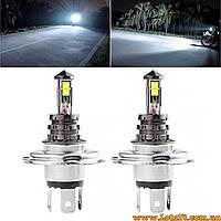 Авто-лампы H4 4 CREE LED 6000K (светодиодные лед лампочки, лучше за галогеновые, ксенон, ДХО, DRL)