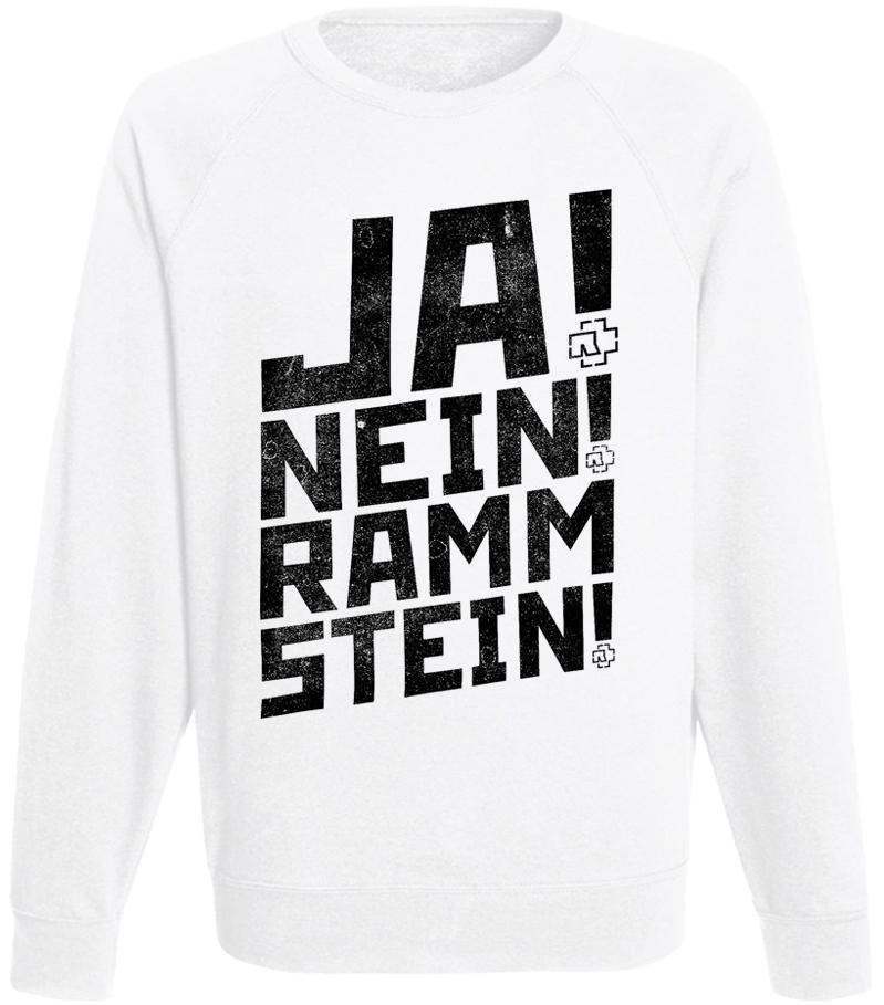 Свитшот Rammstein - Ja! Nein! Rammstein! (белый)