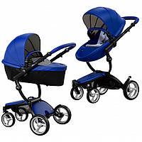 Детская коляска трансформер 2 в 1 Mima xari royal blue