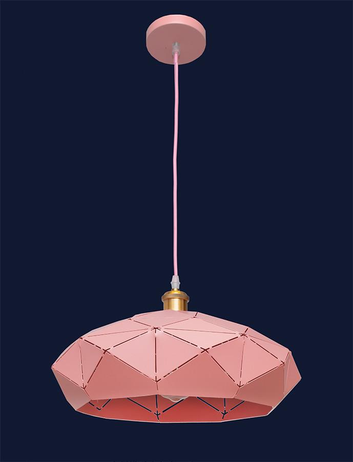 Люстра подвесная в стиле Loft с куполом розового цвета LV 7529522 Rose