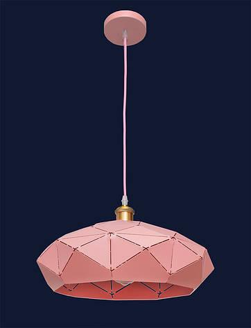 Люстра подвесная в стиле Loft с куполом розового цвета LV 7529522 Rose, фото 2