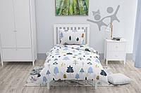 Подростковый комплект постельного белья HalfTones, односпальный набор, хлопок, бязь, 160*220 см, Форест