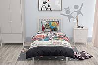 Подростковый комплект постельного белья, односпальный набор HalfTones, хлопок, 160*220см, Love