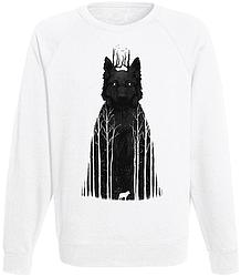 Свитшот Tumblr Wolf (forest) (белый)