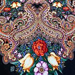 Летнее чудо 1885-18, павлопосадский платок шерстяной  с шелковой бахромой, фото 4