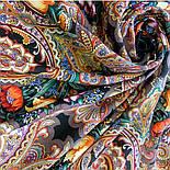 Летнее чудо 1885-18, павлопосадский платок шерстяной  с шелковой бахромой, фото 7