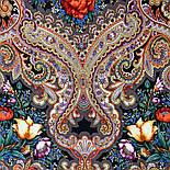 Летнее чудо 1885-18, павлопосадский платок шерстяной  с шелковой бахромой, фото 8