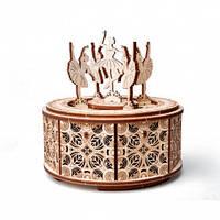 Танцующие балерины Деревянный 3D пазл Wood Trick (механический деревянный конструктор)