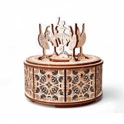 Танцюючі балерини Дерев'яний 3D пазл Wood Trick (механічний дерев'яний конструктор)