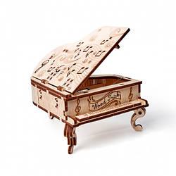 Рояль Дерев'яний 3D пазл Wood Trick (механічний дерев'яний конструктор)