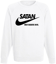 Свитшот Satan - Just Believe In It (белый)