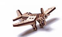 Вудик Самолет Корсар Деревянный 3D пазл Wood Trick (механический деревянный конструктор)
