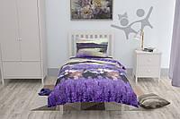 Подростковое постельное белье HalfTones, 160*220см, хлопок, ранфорс, фиолетовый