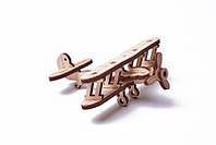 Вудик Мини самолет Деревянный 3D пазл Wood Trick (механический деревянный конструктор)