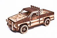 Пикап WT-1500 Деревянный 3D пазл Wood Trick (механический деревянный конструктор)
