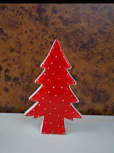 Фігурка червона різдвяна керамічна ялинка