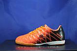 Обувь для футбола, подростковые бампы оранжево-черные Restime, фото 2