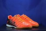 Обувь для футбола, подростковые бампы оранжево-черные Restime, фото 4