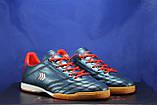 Взуття для футболу, підліткові сині з червоним бампы Restime, фото 5